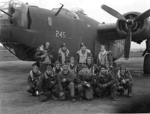 B-24 and crew